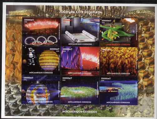 Mozambique 2008 Beijing Olympic Games perf sheetlet containing set of 9 values unmounted mint