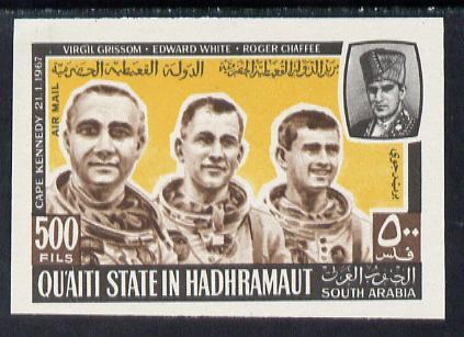 Aden - Qu'aiti 1967 US Astronauts 500f imperf unmounted mint, Mi 141B