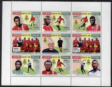 Guinea - Conakry 2008 Football Africa Cup #1 perf sheetlet containing set of 9 values unmounted mint