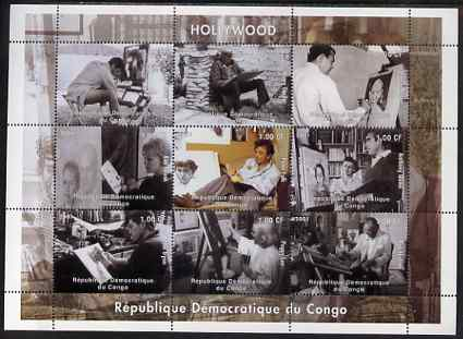 Congo 2001 Hollywood perf sheetlet containing set of 9 values unmounted mint. Note this item is privately produced and is offered purely on its thematic appeal