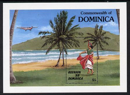 Dominica 1988 Reunion 88 Tourism m/sheet unmounted mint, SG MS 1125