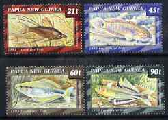 Papua New Guinea 1993 Freshwater Fish perf set of 4 unmounted mint SG 691-94