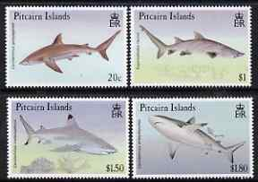 Pitcairn Islands 1992 Sharks perf set of 4 unmounted mint SG 414-7
