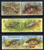 Pitcairn Islands 1993 Lizards perf set of 6 unmounted mint SG 436-41