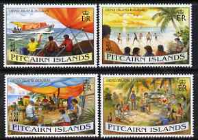 Pitcairn Islands 1995 Oeno Island Holiday perf set of 4 unmounted mint SG 474-77