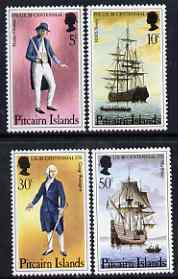 Pitcairn Islands 1976 USA Bicentenary perf set of 4 unmounted mint SG 167-70