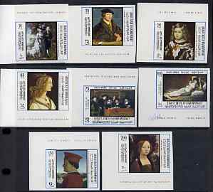 Aden - Qu'aiti 1967 International Tourism Year (Paintings) imperf set of 8 unmounted mint, Mi 169-76B