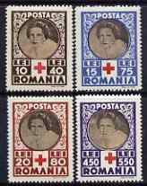 Rumania 1945 Red Cross Relief Fund perf set of 4 unmounted mint SG 1643-46