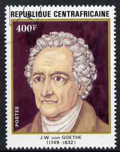 Central African Republic 1982 150th Death Anniversary of Goethe 400f (from Anniversaries set) superb cto used, SG 840