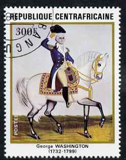 Central African Republic 1982 250th Birth Anniversary of George Washington 300f (from Anniversaries set) superb cto used, SG 839