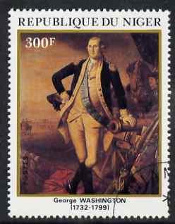Niger Republic 1982 50th Birth Anniversary of George Washington 300f (from Celebrities Anniversaries set) superb cto used, SG 888