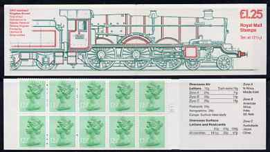 Booklet - Great Britain 1983 Railway Engines #1 (GWR Isambard Kingdom Brunel) \A31.25 folded booklet with cyl number in margin at right, SG FK5B