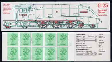 Booklet - Great Britain 1983 Railways Engines #3 (LNER Mallard) \A31.25 folded booklet with cyl number in margin at right SG FK7B