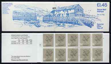 Booklet - Great Britain 1983 British countryside #1 (Lyme regis) \A31.45 booklet complete with cyl number in margin at left SG FS2A
