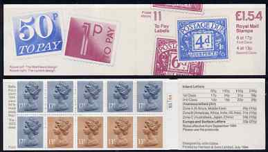 Booklet - Great Britain 1981-85 Postal History series #11 (Postage Due Stamps) \A31.54 booklet with cyl number in margin at right, SG FQ1B