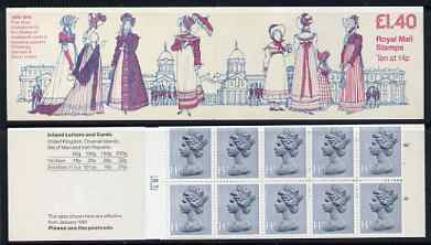 Booklet - Great Britain 1981 19th Century Women