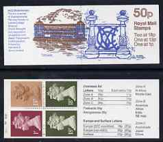 Booklet - Great Britain 1987-88 MCC Bicentenary #3 (Lords Pavilion & Wrought Iron) 50p booklet complete with cyl nos (B21 B4 B30), SG FB41