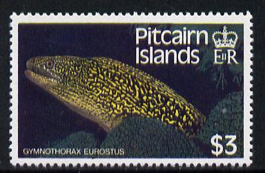 Pitcairn Islands 1988 Fish $3 with wmk s/ways inverted SG 313Ei (blocks & gutter pairs available pro rata) unmounted mint