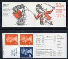 Booklet - Great Britain 1988-89 Gilbert & Sullivan Operas #2 (The Pirates of Penzance) 50p booklet complete with cyl nos (B1 B16), SG FB52, stamps on music, stamps on operas, stamps on pirates, stamps on ships