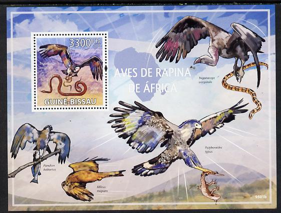 Guinea - Bissau 2009 African Birds of Prey perf s/sheet unmounted mint