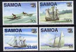 Samoa 1999 Australia 99 Stamp Exhibition perf set of 4 (Maritime Heritage) unmounted mint SG 1038-41