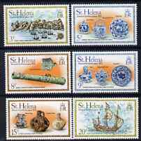 St Helena 1978 Wreck of the Witte Leeuw perf set of 6 unmounted mint SG 341-45