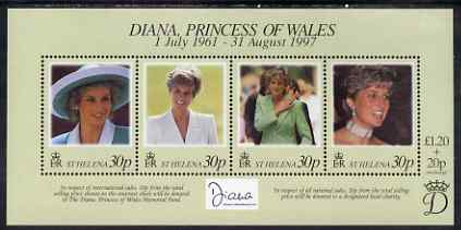 St Helena 1998 Princess Diana Commemoration perf m/sheet unmounted mint SG MS761