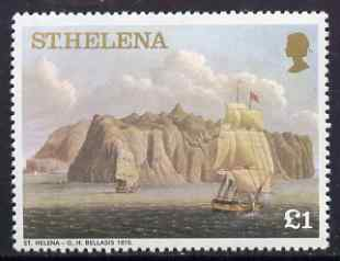 St Helena 1976 Aquatints definitive �1 St Helena in 1815, unmounted mint SG 330A