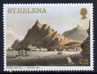 St Helena 1976 Aquatints definitive �2 Sugar Loaf Hill in 1821, unmounted mint SG 331A