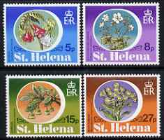 St Helena 1981 Endemic Plants perf set of 4 unmounted mint SG 369-72