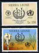 Sierra Leone 1992 Anniversaries & Events - International Conference on Nutrition perf set of 2 unmounted mint SG 1943-44*