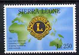 Sierra Leone 1992 Anniversaries & Events - International Lions Club perf 250L unmounted mint SG 1948*