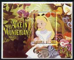 Liberia 2006 Walt Disney - Alice in Wonderland perf m/sheet fine cto used