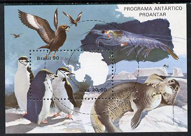 Brazil 1990 Antarctic Programme perf m/sheet unmounted mint, SG MS 2407