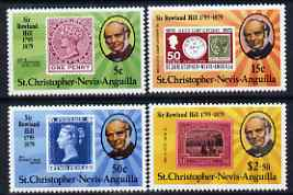St Kitts-Nevis 1979 Rowland Hill perf set of 4 unmounted mint SG  421-4