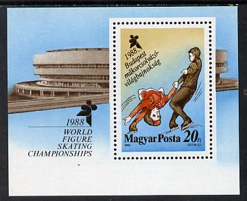 Hungary 1988 World Figure Skating Championships m/sheet SG MS 3831 (mi Bl 195)