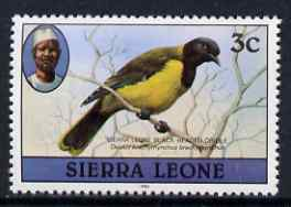 Sierra Leone 1980-82 Birds - Oriole 3c (with 1982 imprint date) unmounted mint SG 624B*