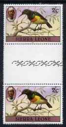 Sierra Leone 1980-82 Birds - Sunbird 2c (with 1982 imprint date) unmounted mint gutter pair SG 623B*