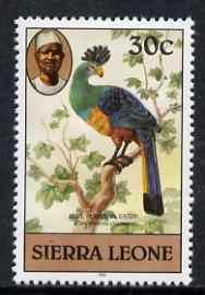 Sierra Leone 1980-82 Birds - Turaco 30c (with 1981 imprint date) unmounted mint SG 630B*