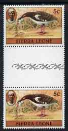 Sierra Leone 1980-82 Birds - Spur Winged Goose 5c (with 1981 imprint date) unmounted mint gutter pairSG 625B*