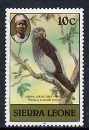 Sierra Leone 1983 Grey Parrot 10c (with 1983 imprint) unmounted mint SG 765