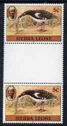 Sierra Leone 1983 Spur winged goose 5c (with 1983 imprint) unmounted mint gutterpair SG 763