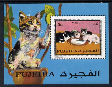 Fujeira 1970 Cats perf m/sheet unmounted mint (Mi BL 34A)