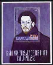 Malawi 2006 125th Birth Anniversary of Pablo Picasso perf m/sheet unmounted mint