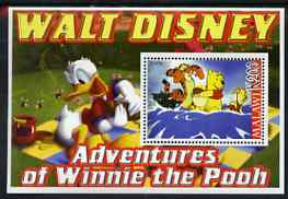Malawi 2006 Walt Disney - Adventures of Winnie the Pooh perf m/sheet unmounted mint, stamps on disney, stamps on films, stamps on cinema, stamps on movies, stamps on cartoons, stamps on bears, stamps on teddy bears, stamps on