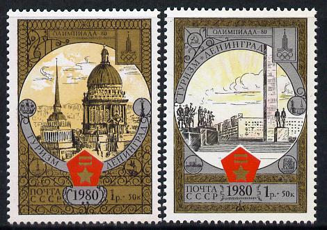 Russia 1980 'Olympics 1980 - Tourism' (7th issue) set of 2 unmounted mint, SG 4981-82, Mi 4940-41*