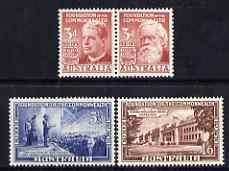 Australia 1951 50th Anniversary of Commonwealth of Australia perf set of 4 unmounted mint, SG 241-4