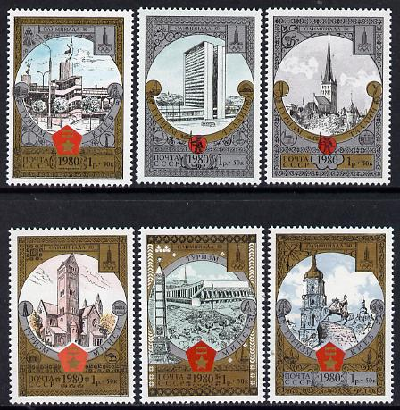 Russia 1980 'Olympics 1980 - Tourism' (8th issue) set of 6 unmounted mint, SG 4990-95 (Mi 4949-54)*