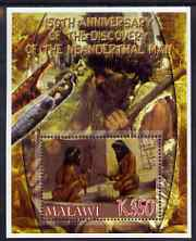 Malawi 2006 Discovery of Neanderthal Man perf m/sheet #1 with Scout Logo unmounted mint