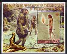 Malawi 2006 Discovery of Neanderthal Man perf m/sheet #2 with Scout Logo unmounted mint